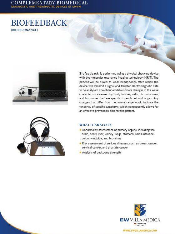 EW Villa Medica | BIOFEEDBACK (BIORESONANCE)