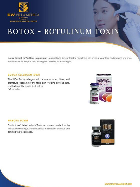 EW Villa Medica - Botox, Botulinum Toxin, Botox Allergan, Nabota Toxin