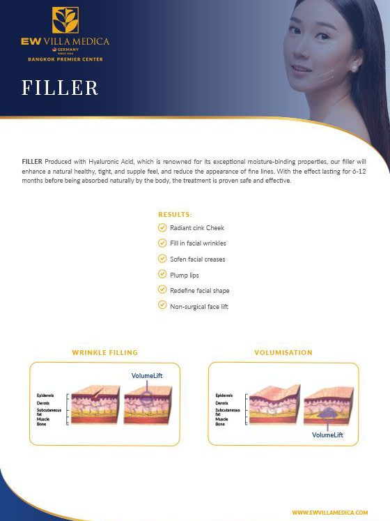 EW Villa Medica - Filler, produced with Hyaluronic Acid
