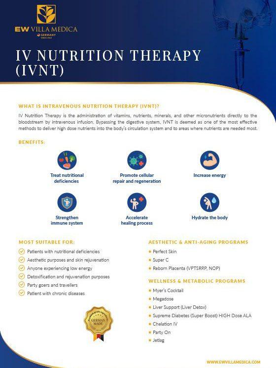 EW Villa Medica - IV Nutrition Therapy
