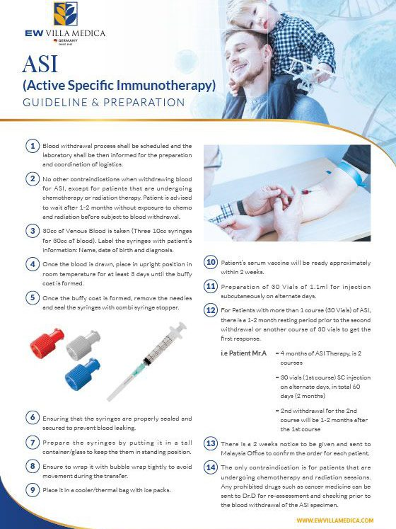 EW Villa Medica - Active Specific Immunotherapy (ASI®), ASI Therapy