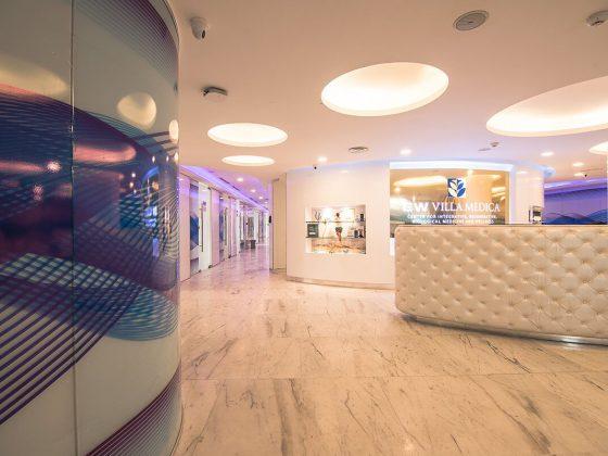 EW Villa Medica Bangladesh Premier Center - Clinic's main reception area
